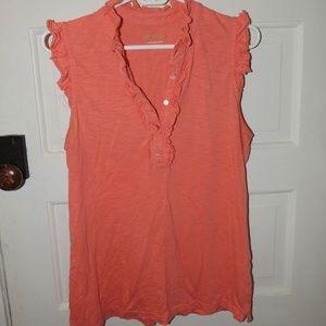 Lily Pulitzer peach sleeveless shirt L